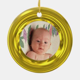 Upload photo to gold illusion ornaments