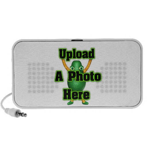 Upload  photo to portable speakers