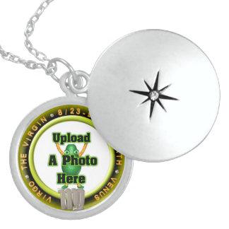 Upload photo Virgo sterling silver locket