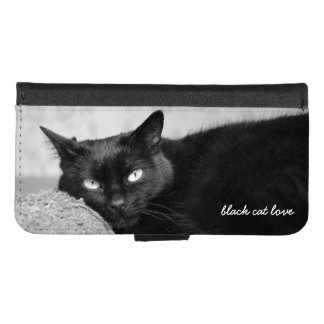 Upload Your Black Cat Photo iPhone 8/7 Wallet Case