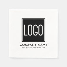 Upload Your Logo and Company Details Napkin