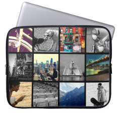 Upload-Your-Own-Photo Collage Laptop Sleeve at Zazzle
