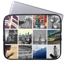 Upload-Your-Own-Photo Collage Laptop Sleeve