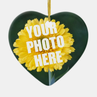 UPLOAD YOUR OWN PHOTO & Create The Perfect Gift Ceramic Ornament