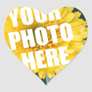 UPLOAD YOUR OWN PHOTO & Create The Perfect Gift Heart Sticker