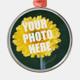 UPLOAD YOUR OWN PHOTO & Create The Perfect Gift Metal Ornament