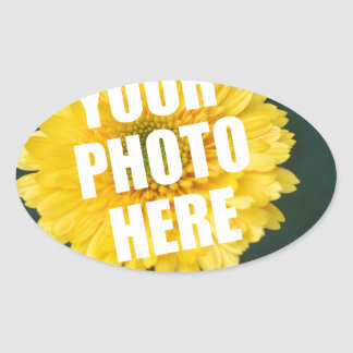 UPLOAD YOUR OWN PHOTO & Create The Perfect Gift Oval Sticker