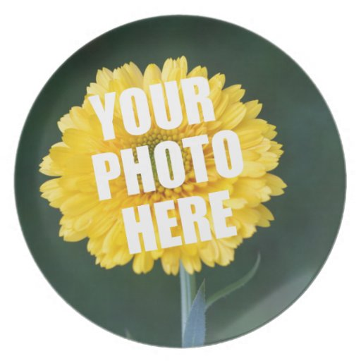 UPLOAD YOUR OWN PHOTO & Create The Perfect Gift Dinner Plates