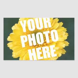 UPLOAD YOUR OWN PHOTO & Create The Perfect Gift Rectangular Sticker