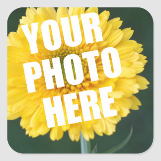 UPLOAD YOUR OWN PHOTO & Create The Perfect Gift Square Sticker