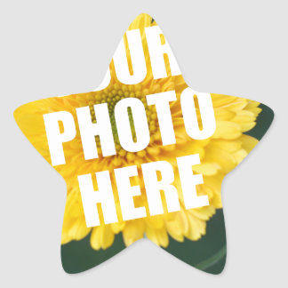 UPLOAD YOUR OWN PHOTO & Create The Perfect Gift Star Sticker