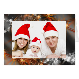 Upload Your Own Photo Sparkly Christmas Holiday Card