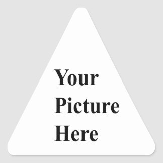 Upload Your Own Picture On Here Triangle Sticker