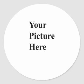 Upload Your Own Picture On Here Round Stickers