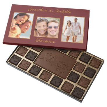 Upload your photo | customize | names & sentiment 45 piece box of chocolates