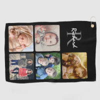 Upload your photo name monogrammed golf towel