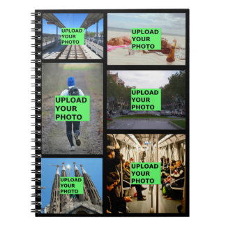Upload your photo spiral notebook