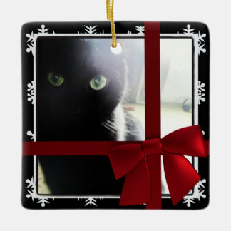 Upload your Photo Square Christmas Tree Ornament