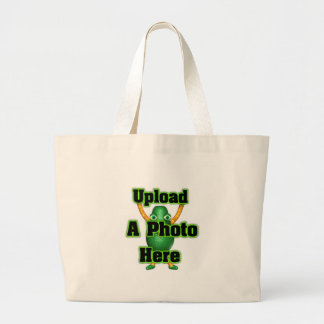 Upload your photo to template products canvas bag