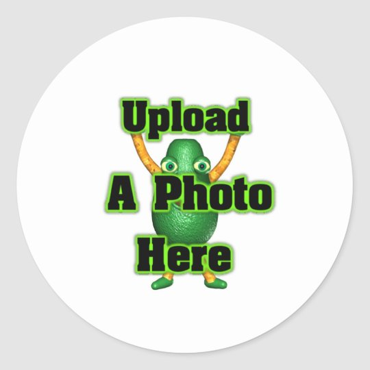 Upload your photo to template products classic round sticker