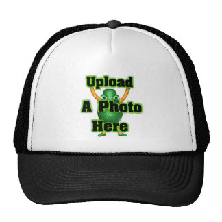 Upload your photo to template products hats