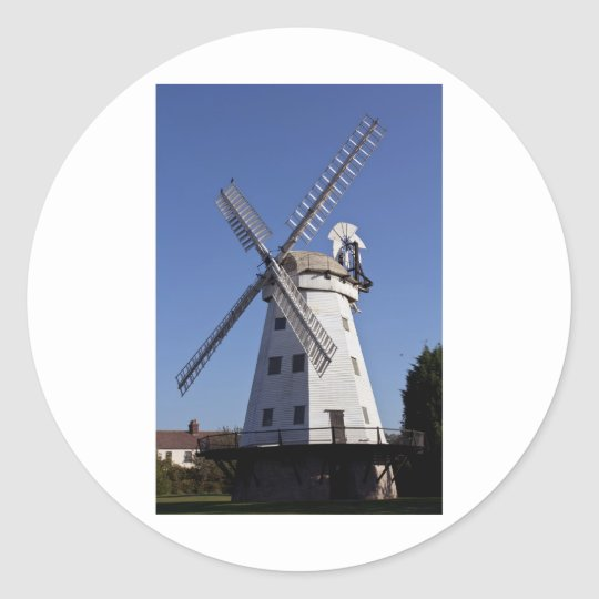 Upminster windmill Essex Classic Round Sticker
