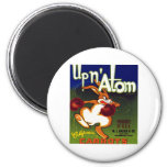 Upn Atom Carrots 2 Inch Round Magnet