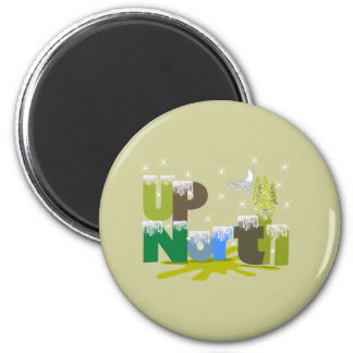 UpNorth Gifts and Apparel 2 Inch Round Magnet