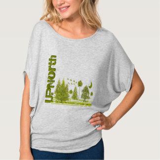UPNorth Grunged Pines Moon - Up North T-shirts