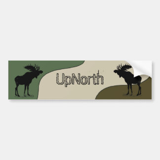 UpNorth Moose Silhouette Bumper Sticker
