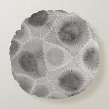 Beach Themed UpNorth Petoskey Stone Pattern Round Pillow