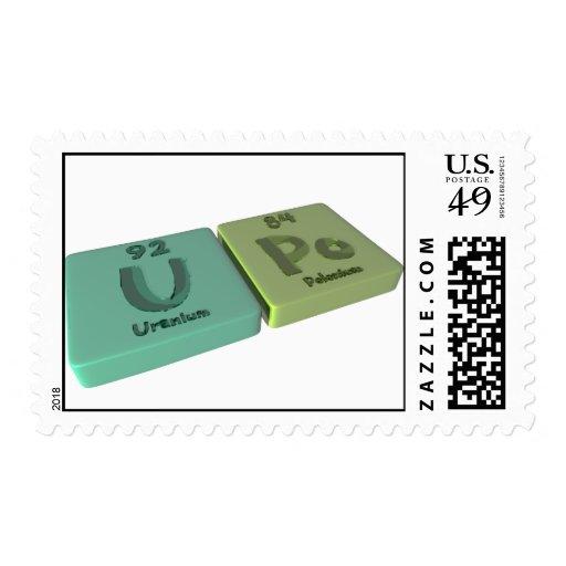 Upo as U Uranium and Po Polonium Postage