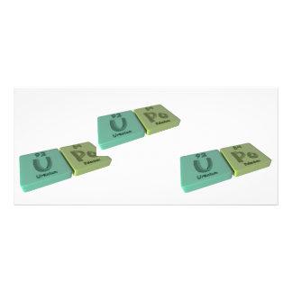 Upo as U Uranium and Po Polonium Rack Cards
