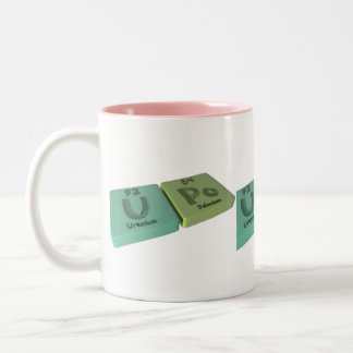 Upo as U Uranium and Po Polonium Two-Tone Coffee Mug