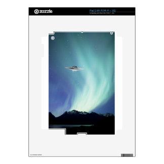 UPO spaceship with northern lights iPad 2 Skins