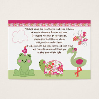 Upon A Pond/Turtle/Butterfly/Frog Favor/Tags Business Card