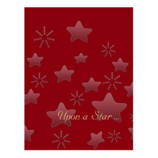 Upon a Star  Holiday Season Gift Post Card