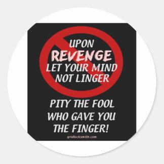 UponRevenge-PityTheFool Etiqueta Redonda