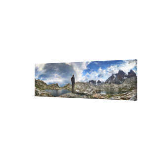 Upper and Middle Nydiver Lakes Panorama - Sierra Canvas Print