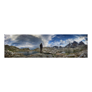 Upper and Middle Nydiver Lakes Panorama - Sierra Poster