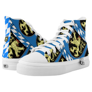 Upper Bavaria State Flag High-Top Sneakers