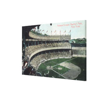 Upper Bleacher View of Nat'l League Baseball Par Canvas Print