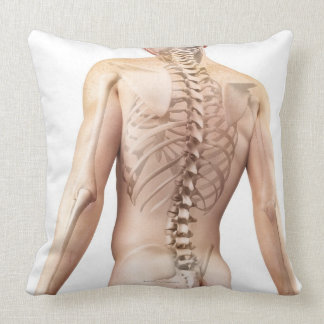 Upper Body Bones 2 Throw Pillow