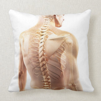 Upper Body Bones Pillow
