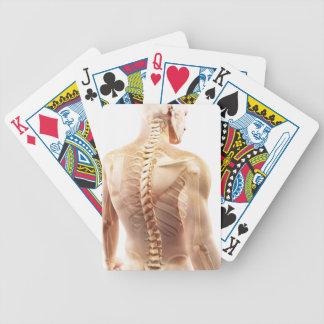 Upper Body Bones Poker Cards