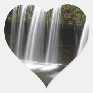 Upper Butte Creek Falls in Autumn Heart Sticker