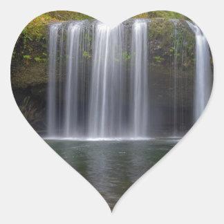 Upper Butte Creek Falls in Fall Season Heart Sticker