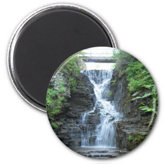 Upper Buttermilk Falls Ithaca, NY 2 Inch Round Magnet