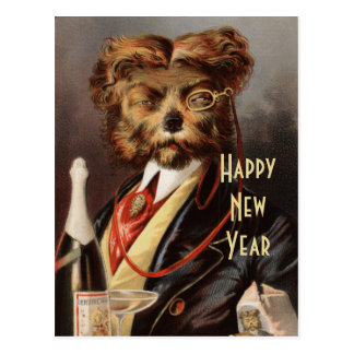 Upper Crust New Year Postcard