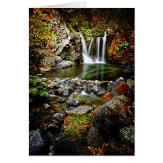 Upper Crystal Creek Falls Greeting Cards